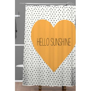 Dawley Hello Sunshine Heart Polyester Single Shower Curtain