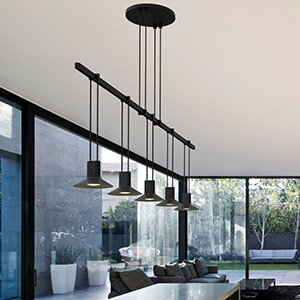 Sonneman Suspenders® 5-Light Kitchen Island Pendant