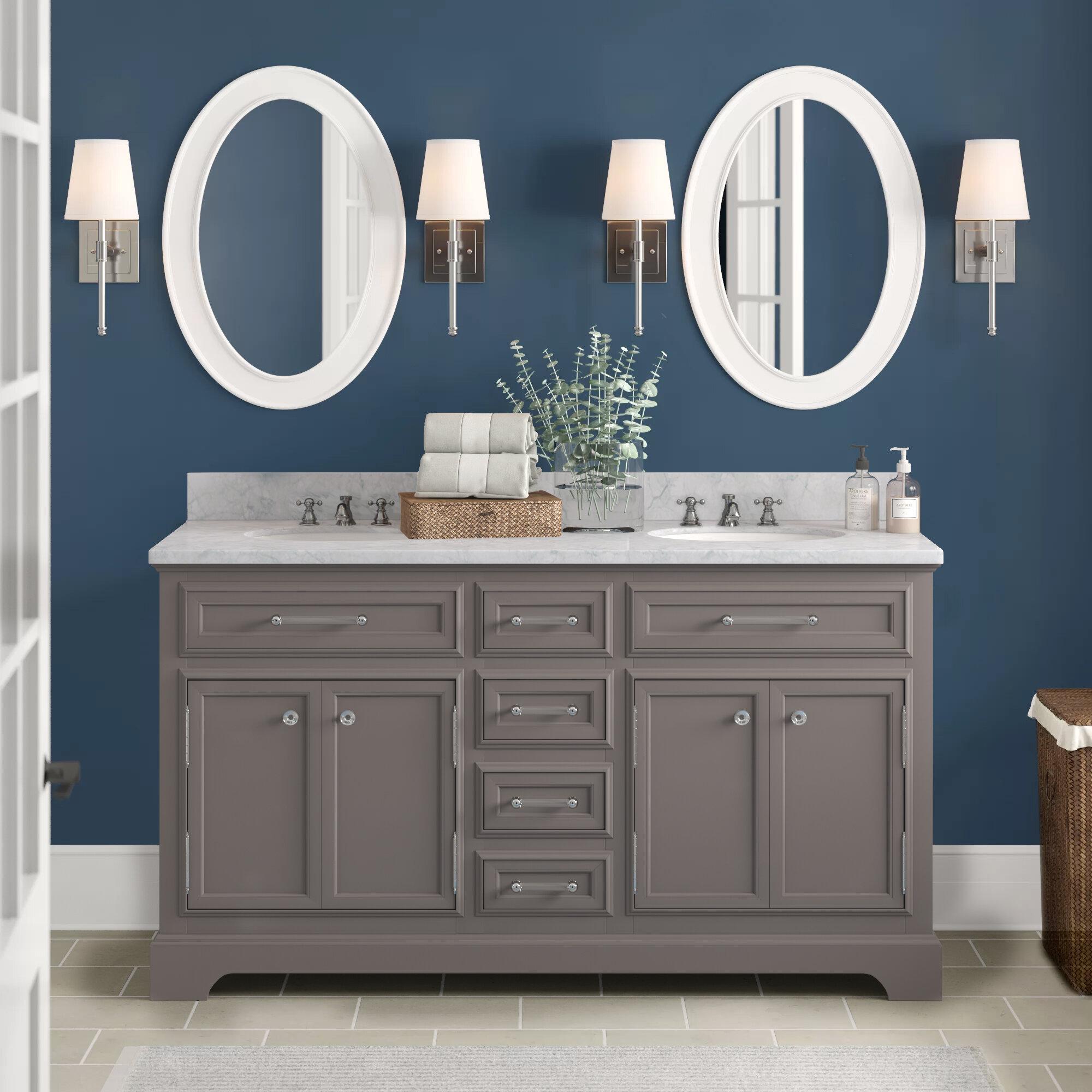 Contemporary Office Interior Design, Three Posts Bergin 60 Double Sink Bathroom Vanity Set With Mirror Reviews Wayfair