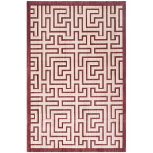 Infinity Red/Beige Area Rug