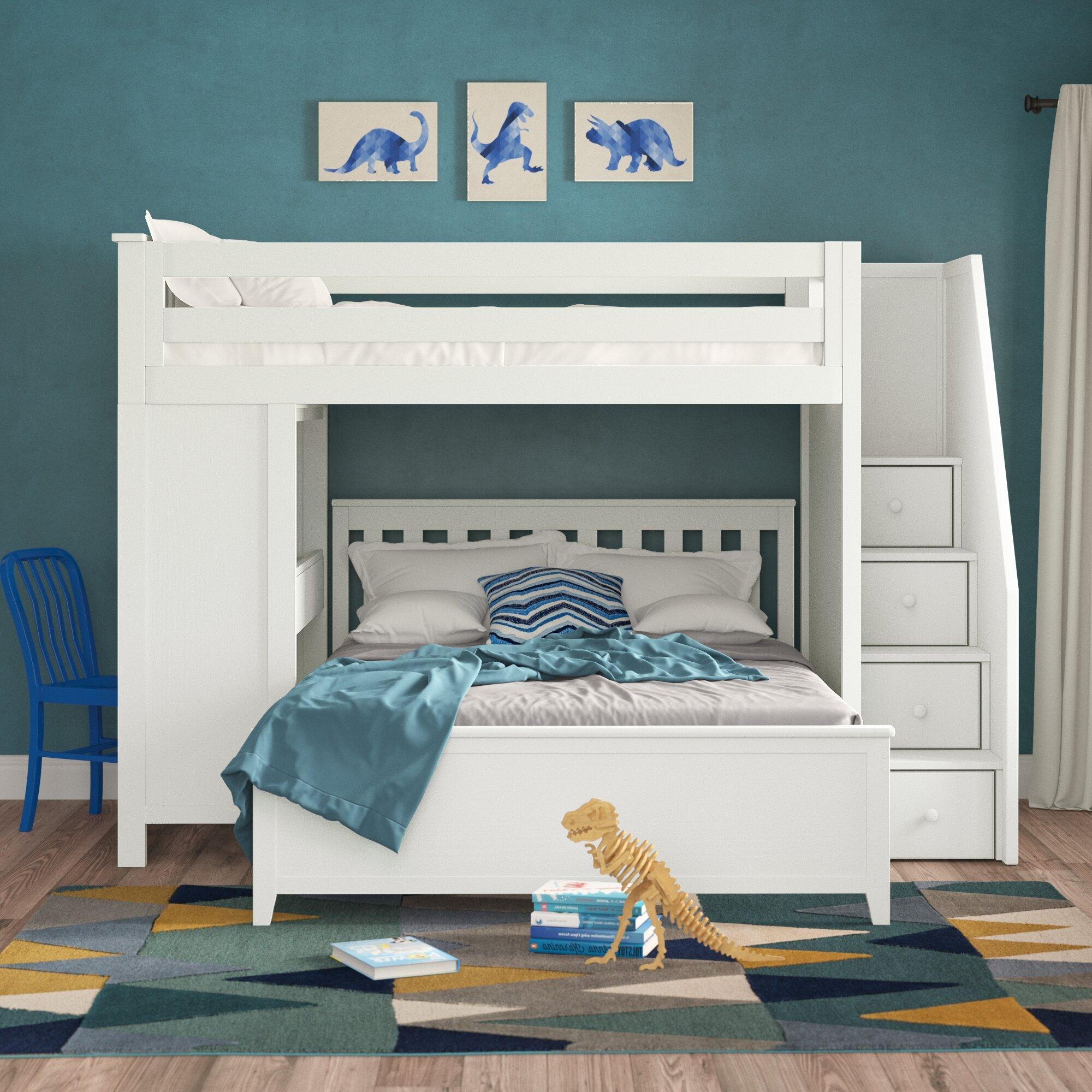 Picture of: Kids Bunk Beds With Desks Wayfair