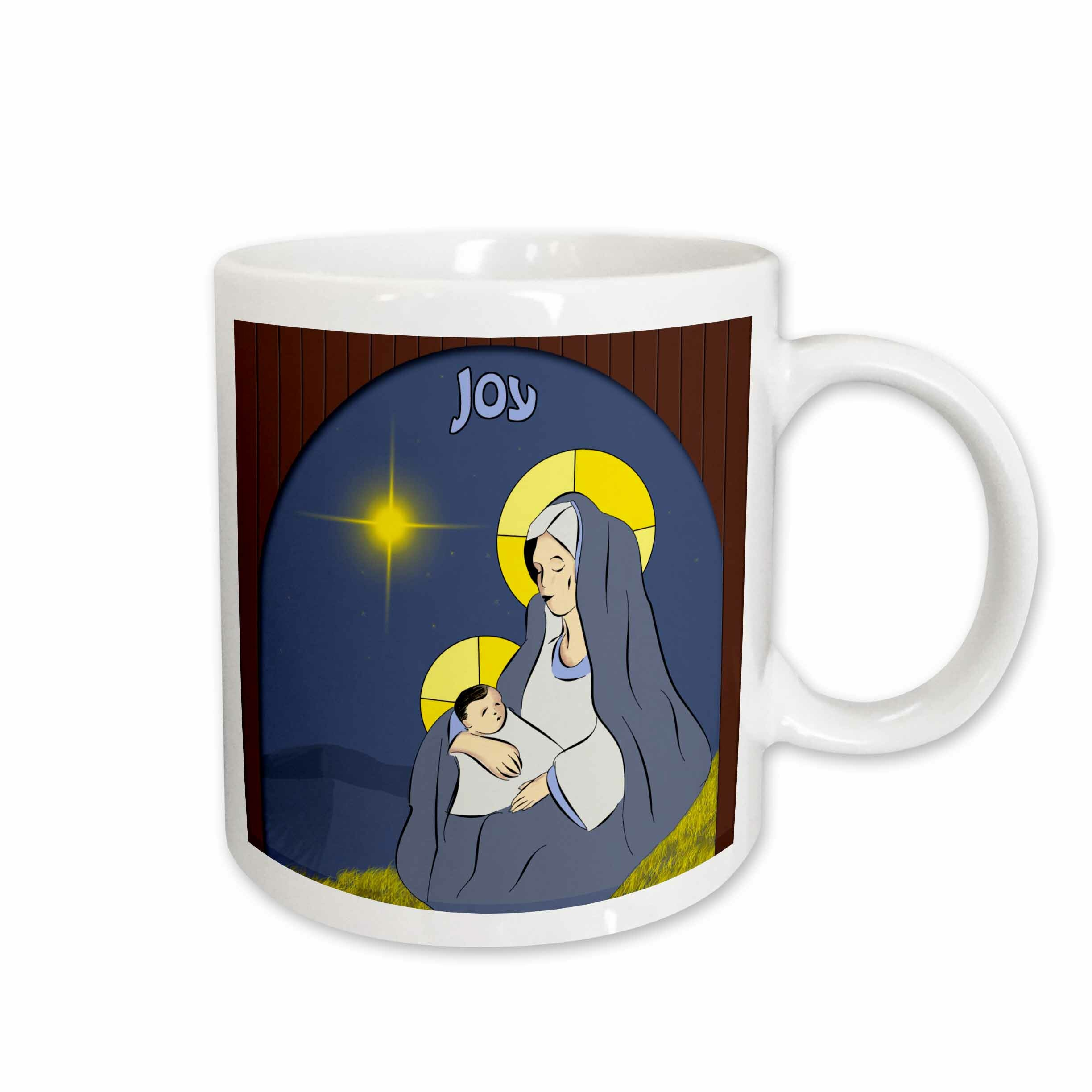 East Urban Home A Window Depicting The Virgin Mother Mary With Child Jesus Coffee Mug Wayfair