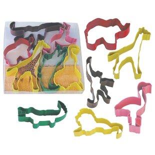 6 Piece Safari Animal Cookie Cutter Set