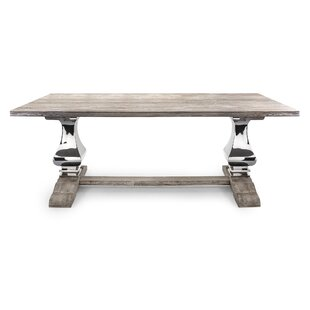 Rodin Solid Wood Dining Table Bloomsbury Market