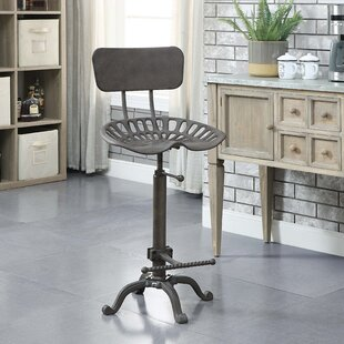 Delaney Adjustable Height Bar Stool by 17 Stories