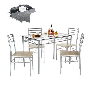 Sammy 5 Piece Dining Table Set By Ebern Designs