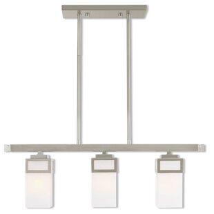 Ebern Designs Nailwell Linear 3-Light Kitchen Island Pendant