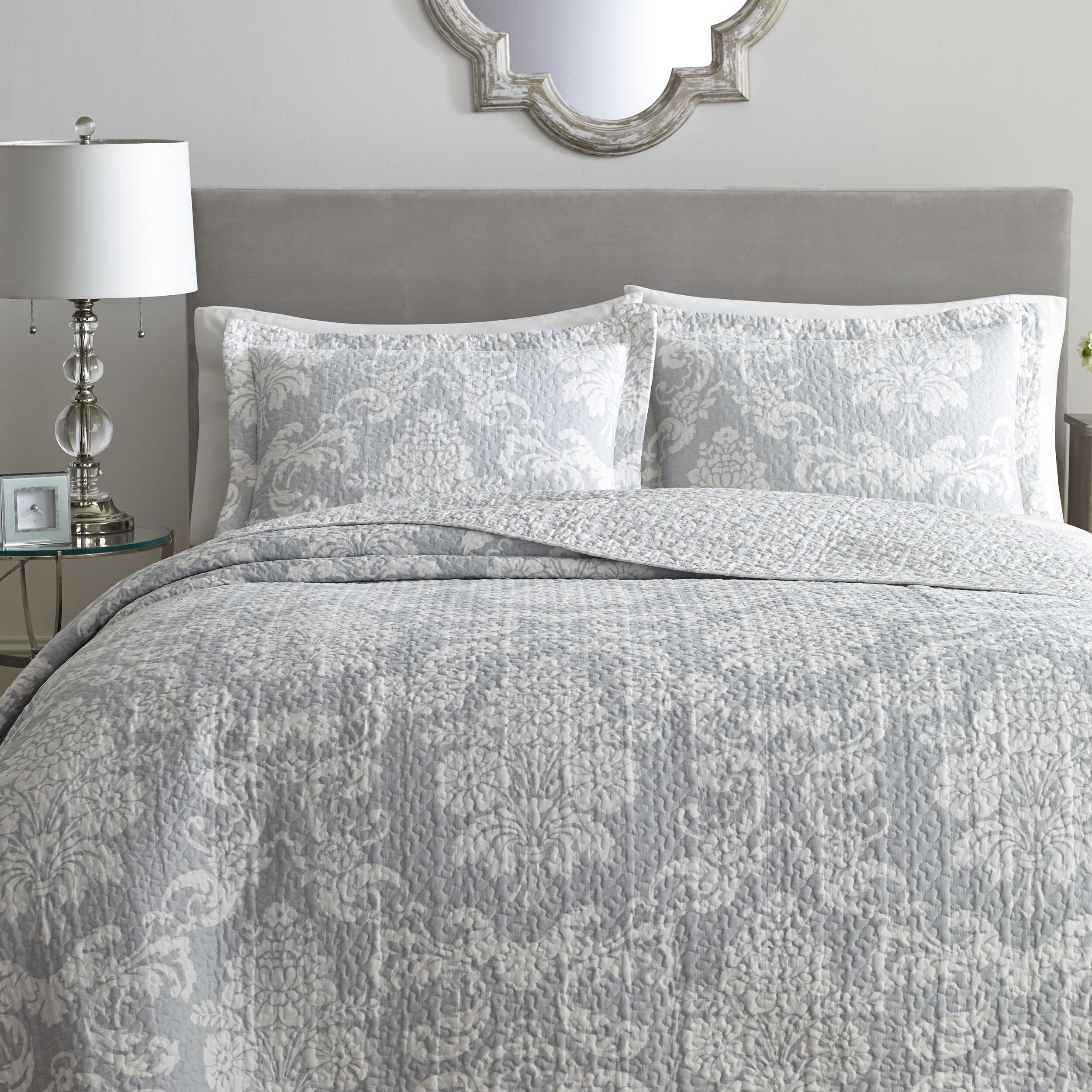 Laura Ashley Venetia 100 Cotton Reversible Quilt Set By Home Reviews Wayfair