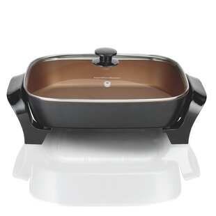 Deep Dish Electric Skillet with Lid