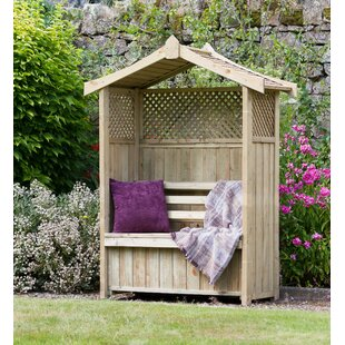 Leyden Wooden Arbour by Lynton Garden