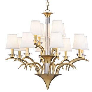 House of Hampton Gianna 12-Light Shaded Chandelier