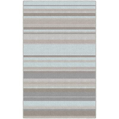 Isabell Traditional Pastel Striped Blue Area Rug Winston