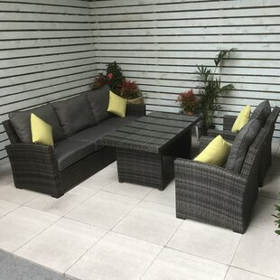Charlie 5 Seater Dining Set With Cushions By Sol 72 Outdoor