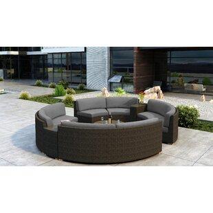 Glen Ellyn 7 Piece Sectional Set with Sunbrella Cushion