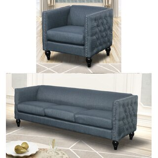 Annuziata 2 Piece Living Room Set by House of Hampton SKU:EB744963 Guide