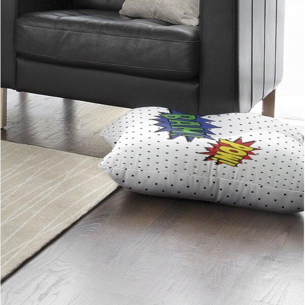 Brayden Studio Steffen Pow And Bam Floor Pillow Wayfair