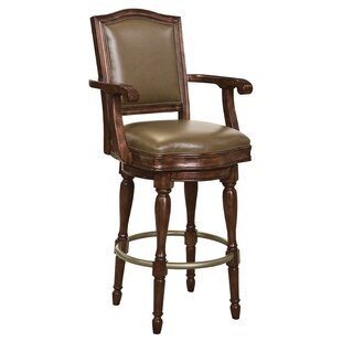 Boggess Swivel Bar Stool Astoria Grand