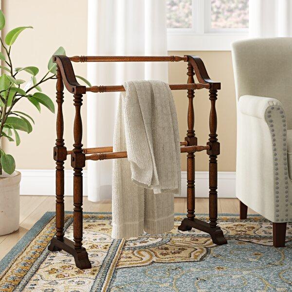 NEW Unfinished Wood Quilt Rack Stand Blanket Bedspread Storage Display Elegant