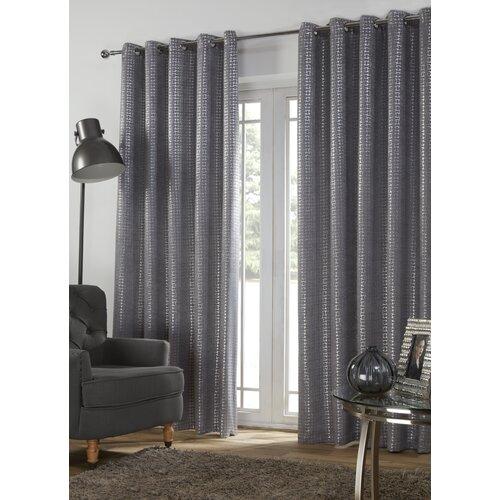 Ferne Eyelet Blackout Thermal Curtains Fairmont Park Size pe