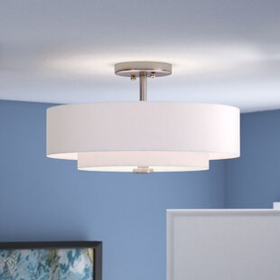 Brittnie 3-Light Semi-Flush Mount by Zipcode Design