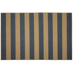Beach Service Blue Stripe Indoor/Outdoor Area Rug