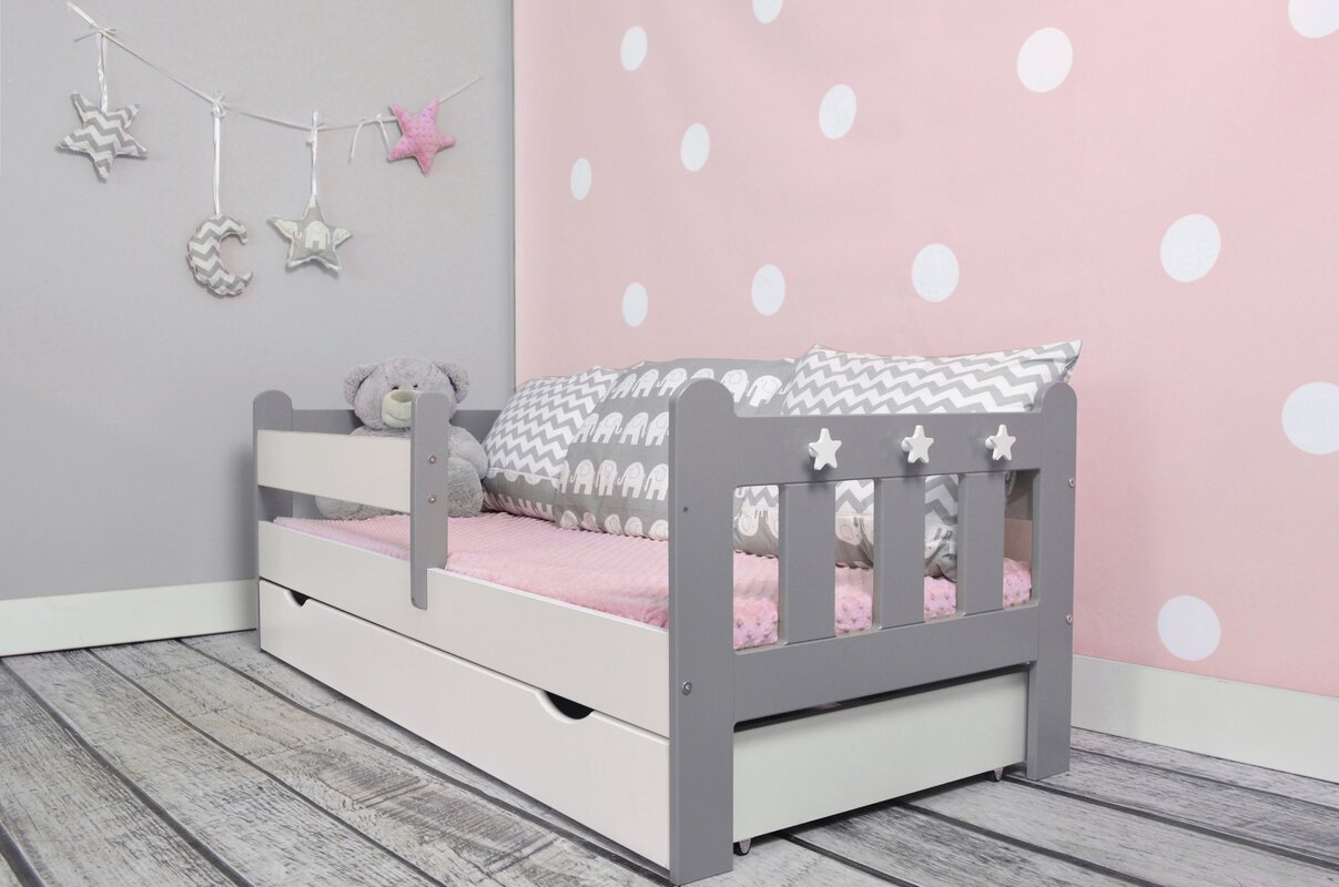 m bel concept kinderbett clara mit matratze und schublade bewertungen. Black Bedroom Furniture Sets. Home Design Ideas