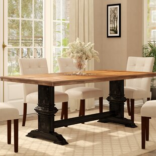 Three Posts Fortville Solid Wood Dining T..