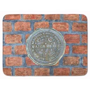 Watermeter on Bricks Memory Foam Bath Rug