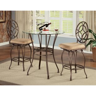 Staley 3 Piece Counter Height Dining Set Fleur De Lis Living