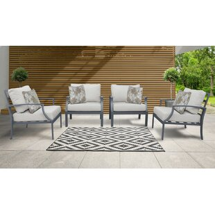 Benner Patio Chair with Cushions (Set of 4)