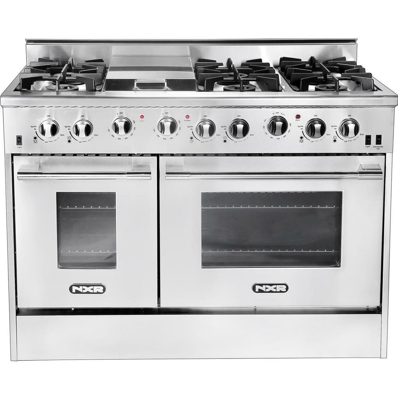 Nxr Professional Ranges 48 Free Standing Gas Range With Griddle Wayfair