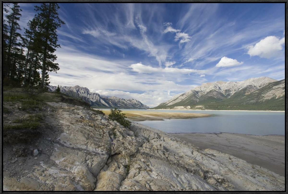 Global Gallery Abraham Lake Created By Bighorn Dam On The