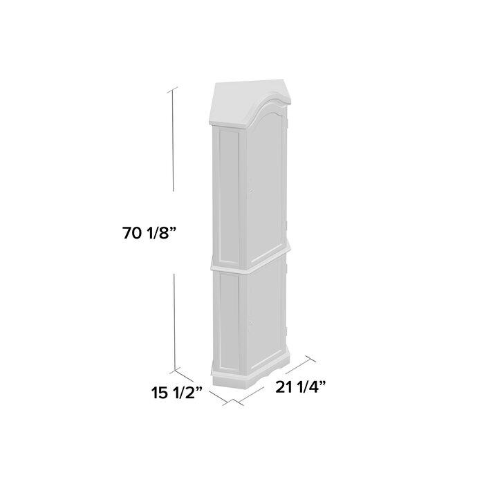 Clayborne Floor Standing 5 Sided Lighted Corner Curio Cabinet