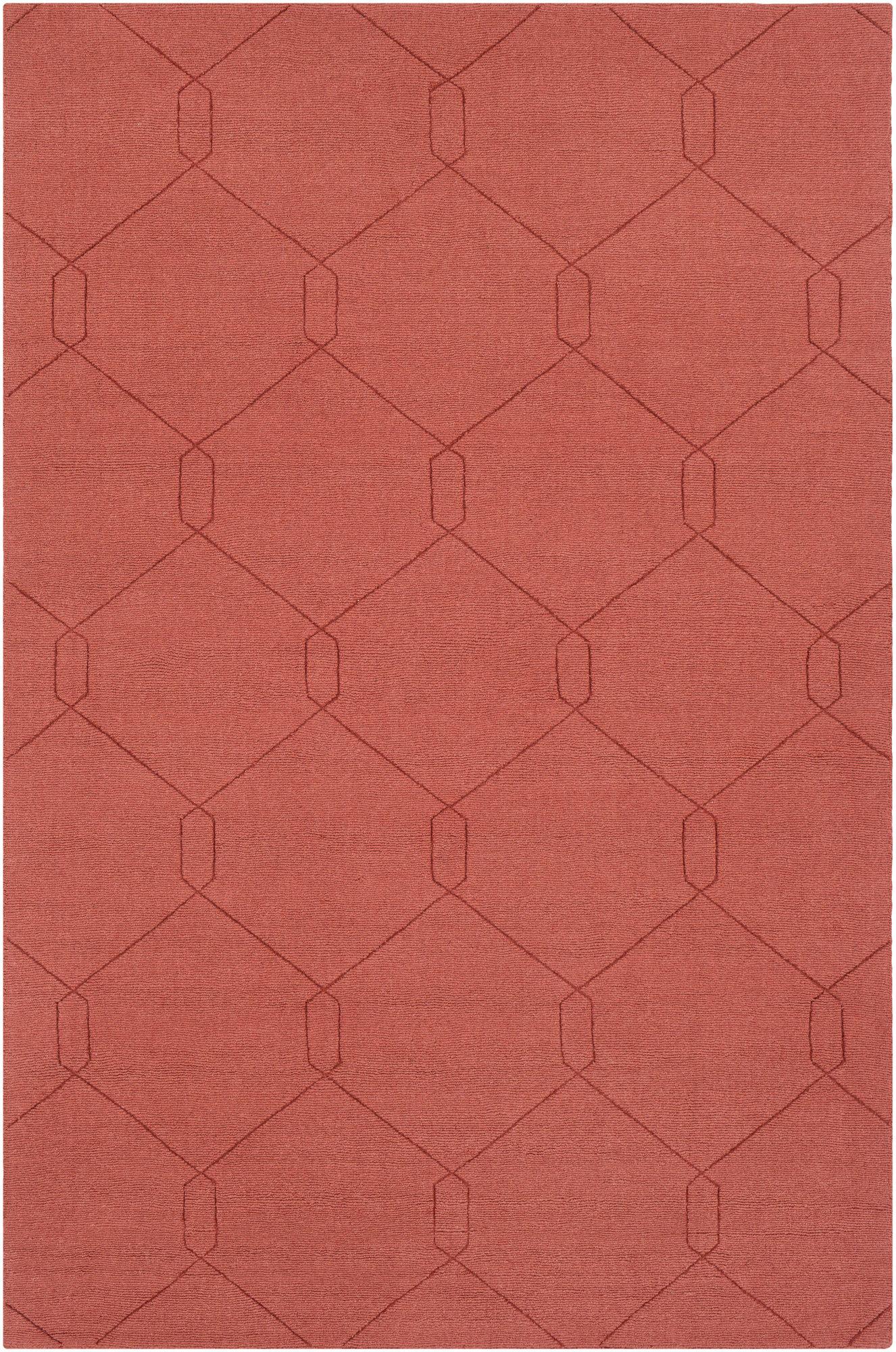 Wrought Studio Pulcova Wool Burnt Orange Area Rug Reviews
