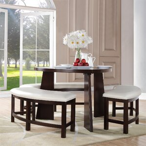 Triangle Dining Table With Benches Wayfair