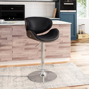 Silsden Adjustable Height Swivel Bar Stool by Orren Ellis