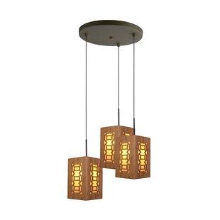 Newsom Bamboo 3-Light Cluster Pendant by World Menagerie