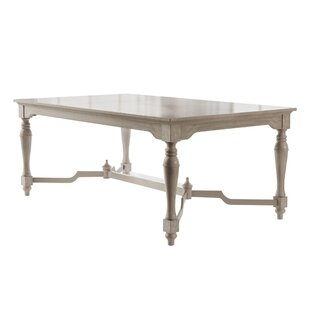 Piazza Solid Wood Dining Table August Grove