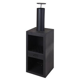 Bordner Steel Charcoal Outdoor Fireplace Image