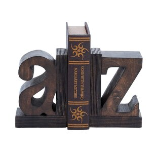 Strikingly Idea Bird Bookends. Artisan Hand Carved A to Z Wooden Bookends Letter  Wayfair