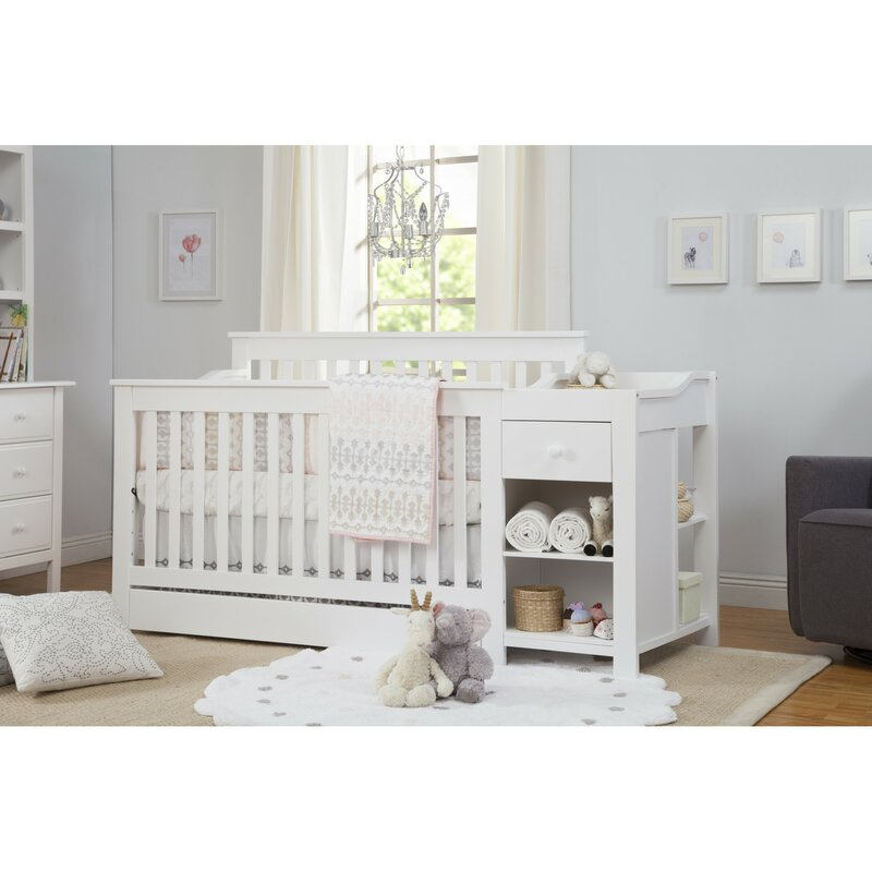 Piedmont 4-in-1 Crib and Changer Combo  sc 1 st  Wayfair & DaVinci Piedmont 4-in-1 Crib and Changer Combo \u0026 Reviews | Wayfair