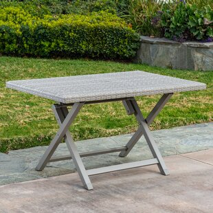 Specht 6 Person Folding Wicker Dining Table