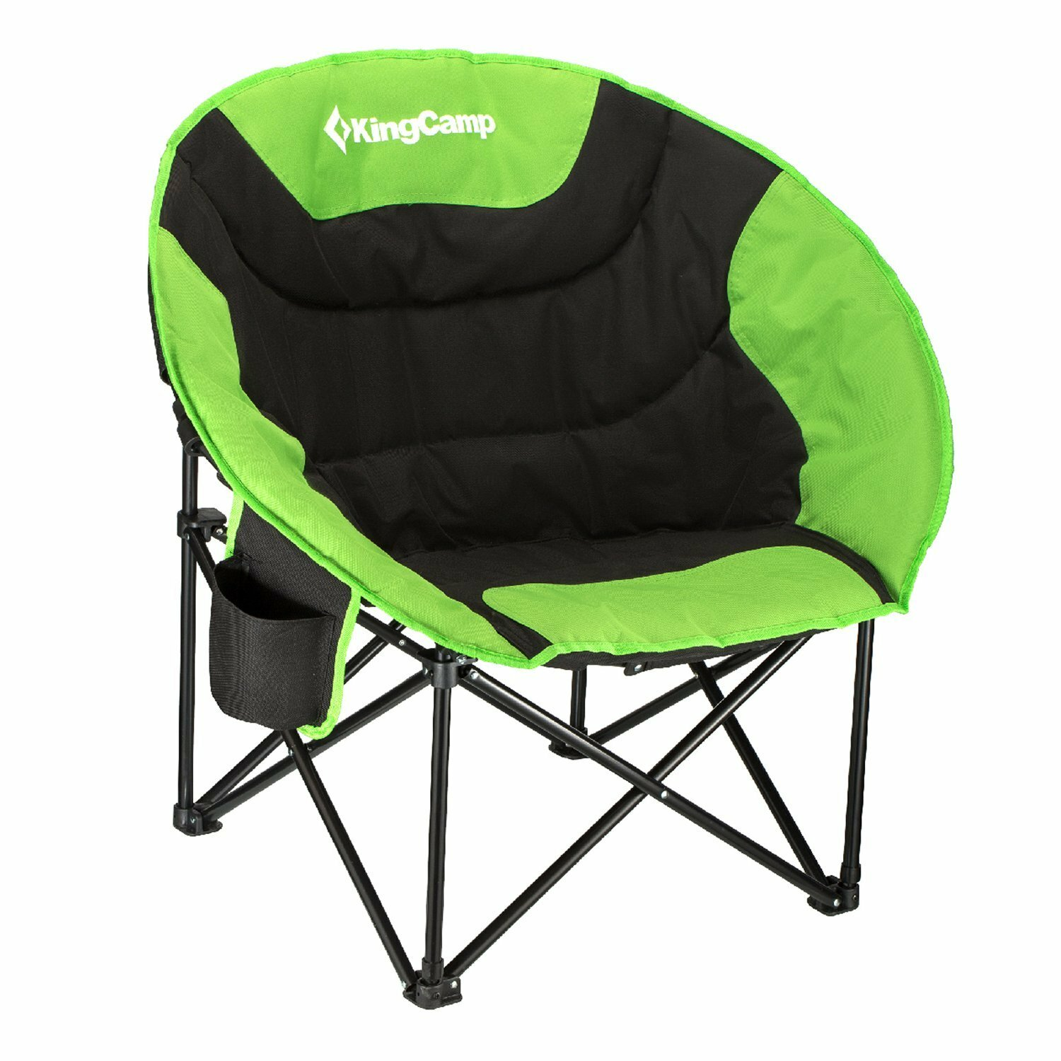 Kingcamp Moon Saucer Folding Camping Chair With Carry Bag | Wayfair