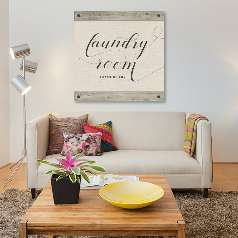 'Laundry Room' Textual Art on Canvas