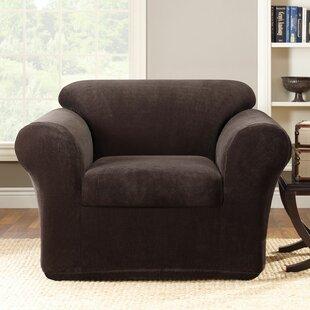 Stretch Metro Box Cushion Armchair Slipcover