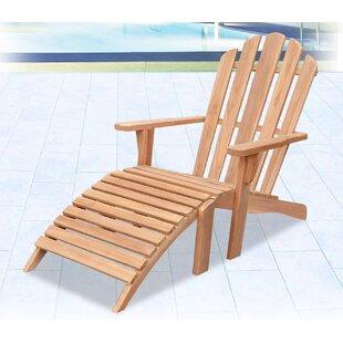 Highland Dunes Brenner Teak Adirondack Chair