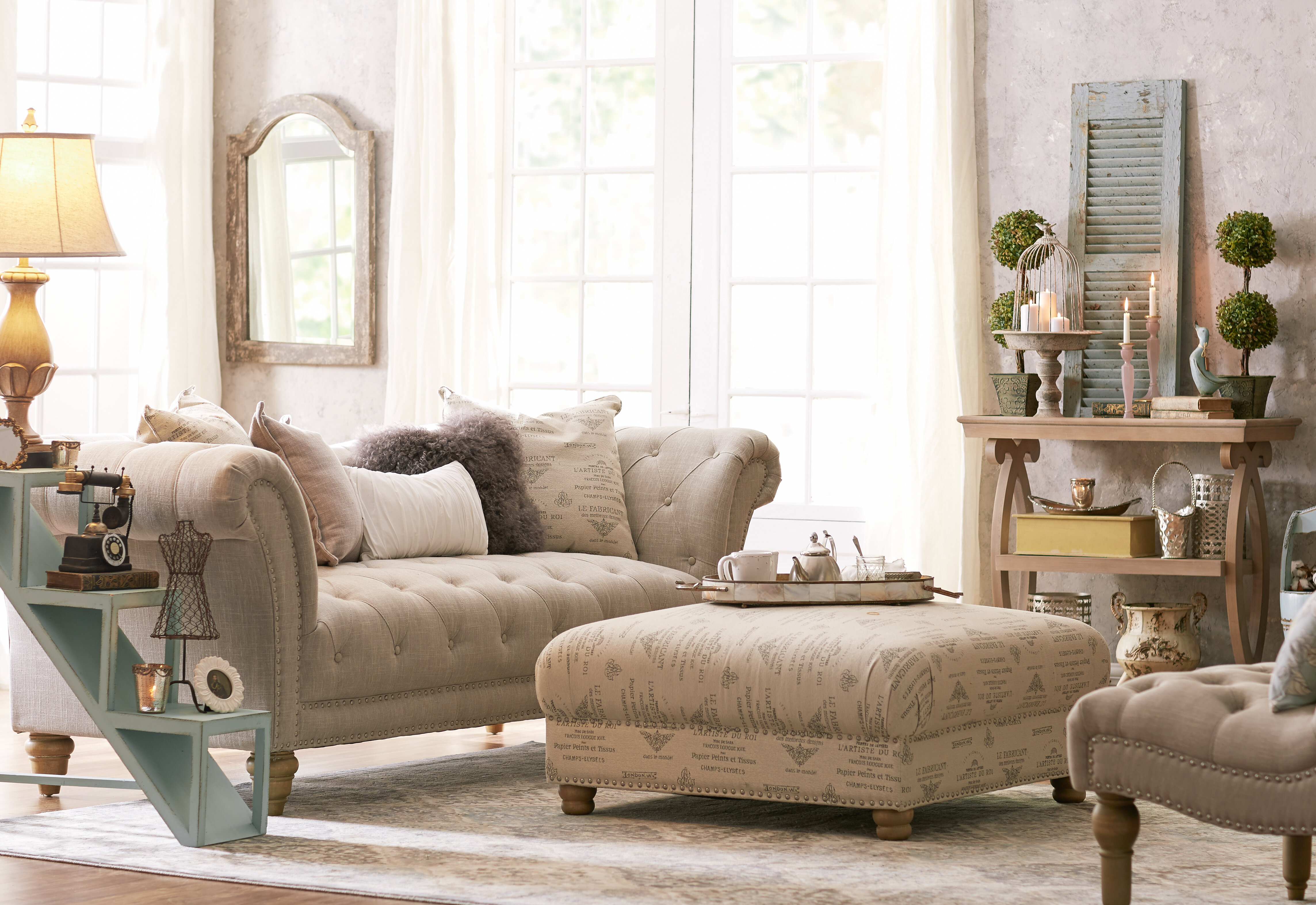 Lark Manor Versailles Configurable Living Room Set & Reviews | Wayfair