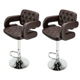Moorestown Swivel Adjustable Height Bar Stool (Set of 2) by Orren Ellis