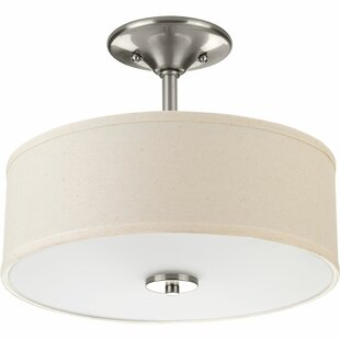 Greenwell 2-Light Semi Flush Mount by Three Posts
