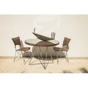 Birdwell Glass Dining Table by Bungalow Rose